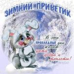 На открытках зимний приветик